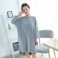 Women Nightgowns autumn winter Sleepwear Casual Night Dresses Pregnant woman long Sleeve dresses Loose Nightdress Home Clothes