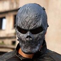 Creativo Skull Maschera Wargame Chiefs Tattico CS Cosplay Mascherata Maschera di Burla Divertente Camouflage In Sella Maschere Viso Completa Regalo di Halloween