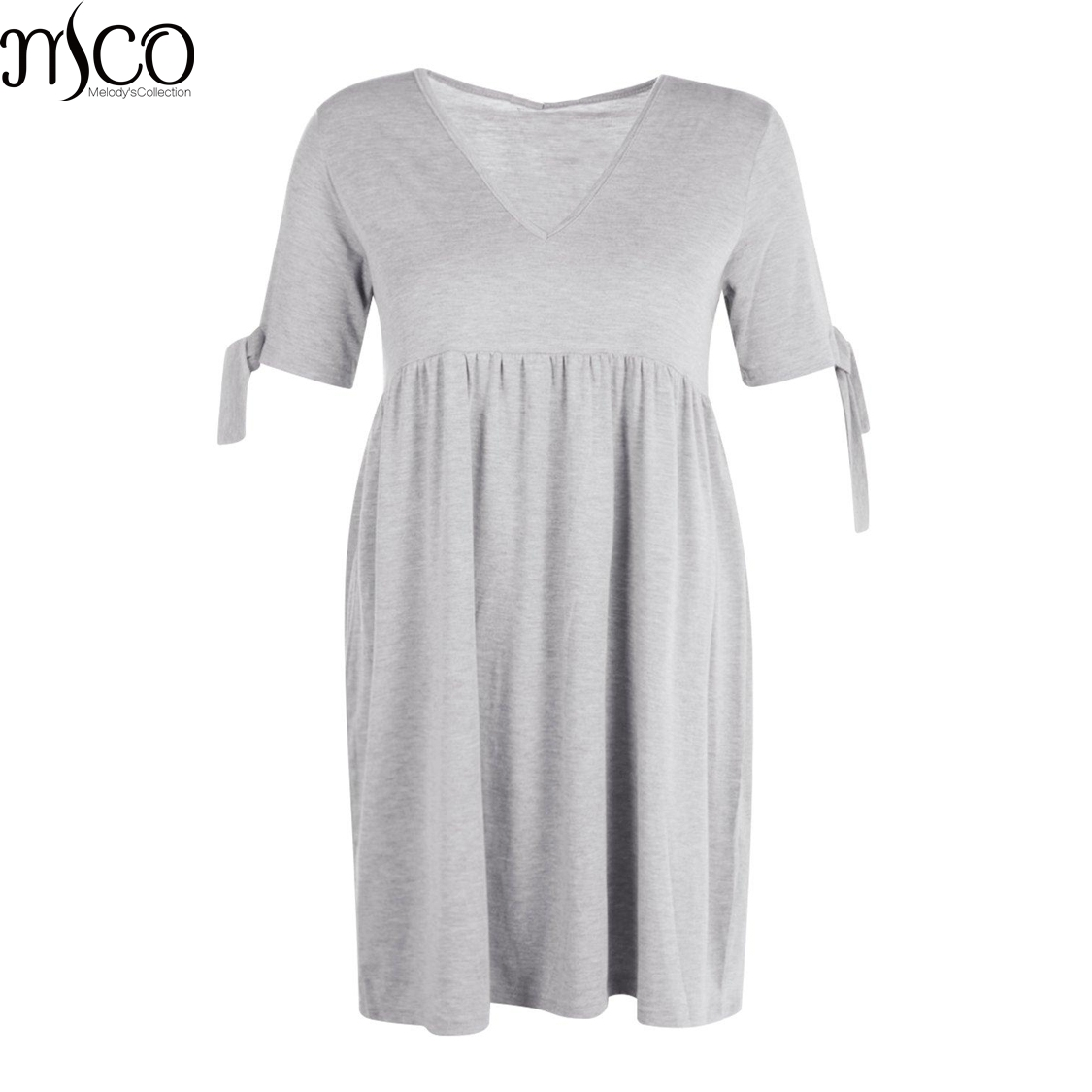 US $19.43 |MCO Summer Casual Tie Sleeves Plus Size Smock Dress Oversized  Swing Day Mini Dresses Ultimate Easy Loose Women Clothing 6XL 7XL-in  Dresses ...
