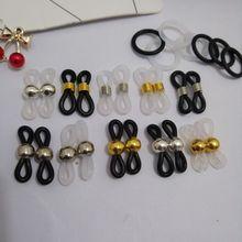 edb5e4e75b50 free shipping 50pcs Black whiter eyewear accessories Adjustable Lanyard  Cord Rubber Connectors for Glasses Holder