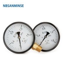 NBSANMINSE  General Purpose Pressure Gauge SMTB 100mm 4inch 1.6 MPa 1/2