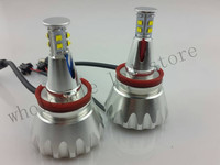 2X 60W Led Marker Angel Eyes Bulbs case for BMW E92 H8 (TYPE 21) 2000LM Error Free CRE E XPE R5 with mini fan Freeshipping GGG