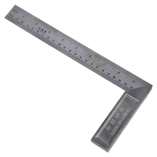 90 Degree 25cm Length Stainless Steel L-Square Angle Ruler 10pack stainless steel 150 x 300mm 90 degree angle metric try mitre square ruler