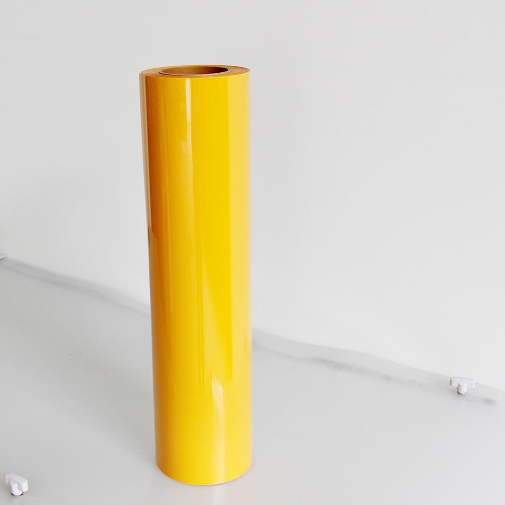 0.3x30 m PU transfert de chaleur vinyle PU jaune fer sur vinyle rouleaux HTV transfert meilleur fer sur HTV vinyle pour Silhouette camée, Cricut