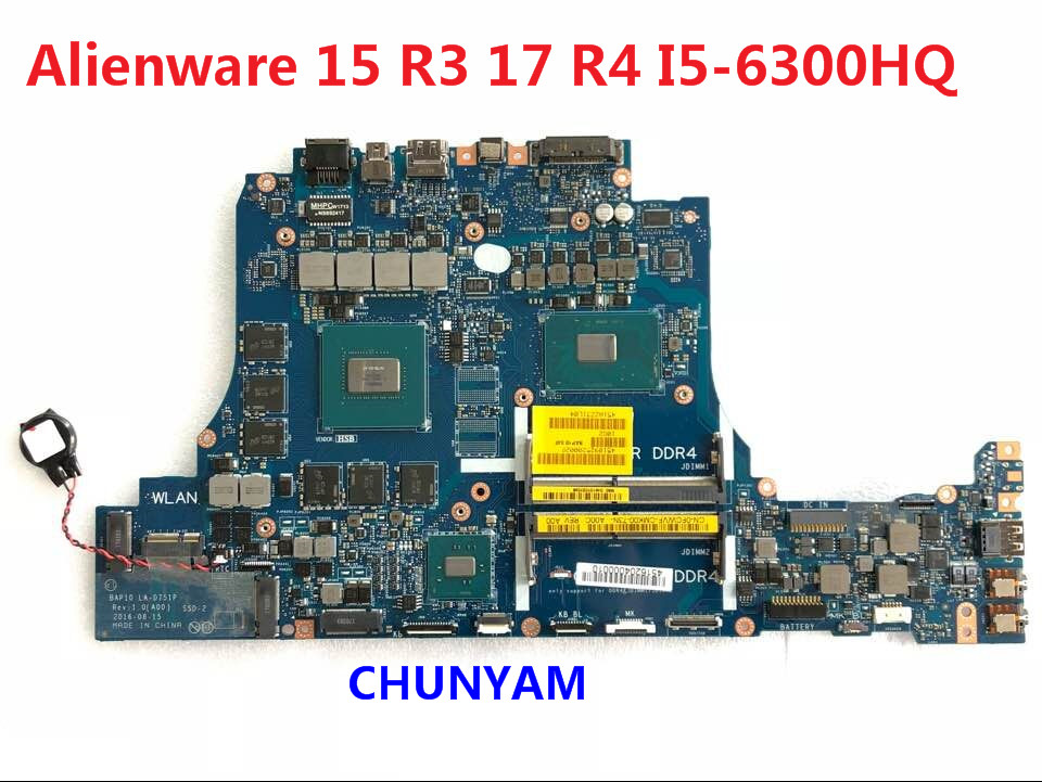 Humor Kefu Cn-0fcwvf Fcwvf For Dell Alienware 15 R3 17 R4 Laptop Motherboard La-d751p I5-6300hq Gtx1060 Mainboard Notebook Pc Board