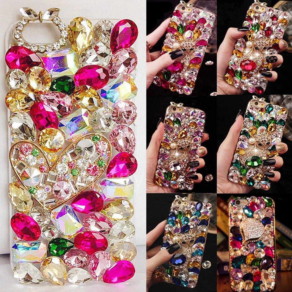 Für Iphone 6 Plus/6 S Plus Mode Große Bling Steine Kristall Diamanten Strass 3d Steine Telefon Fall, Schöne Tpu + Pc Acryl Shell Dinge FüR Die Menschen Bequem Machen