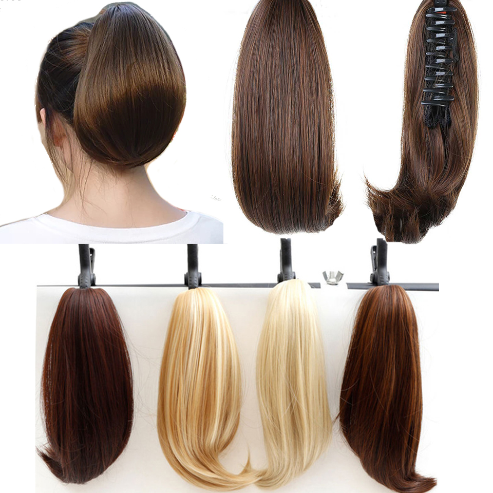 DIFEI Synthetic Women Claw On Ponytail Clip In Hair Extensions Straight  Pony Tail Hairpiece Black Brown Blonde Hairstyles Hair