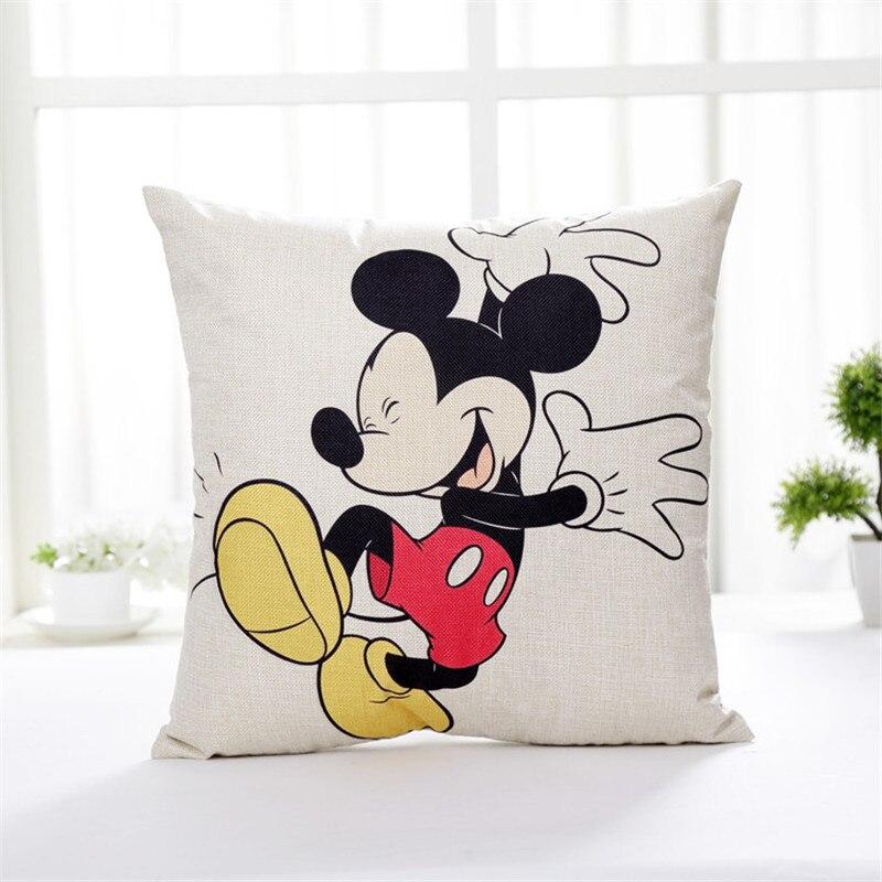 Rabais Taies D Oreiller Disney Dessin Animé Mignon Mickey Mouse Minnie Princesse Couple Taie D Oreiller Décoratif Taie D Oreiller 45x45 Cm