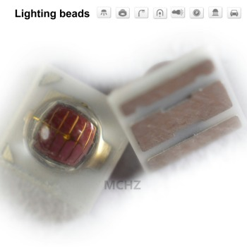 20PCS 3535 2W SMD LED Diode 2V-2.6V 700ma RED 620NM 625NM  Infra-red Deep red 610nm 615nm Red blue green yellow