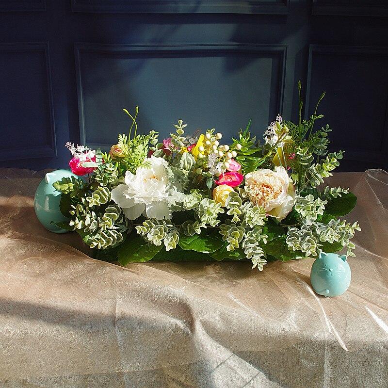 INDIGO-vente Exclusive Table pièce maîtresse événement Bouquet ensemble fleur Arrangement Bouquet fleur artificielle fête livraison gratuite