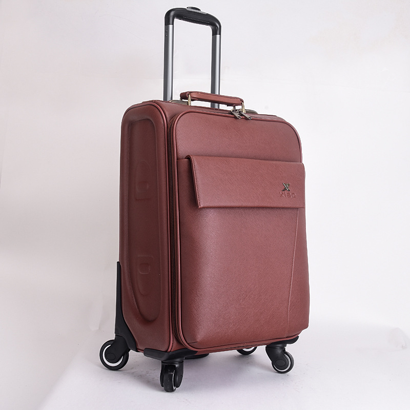 Aliexpress.com : Buy Men and Women PU Leather Travel Suitcase ...