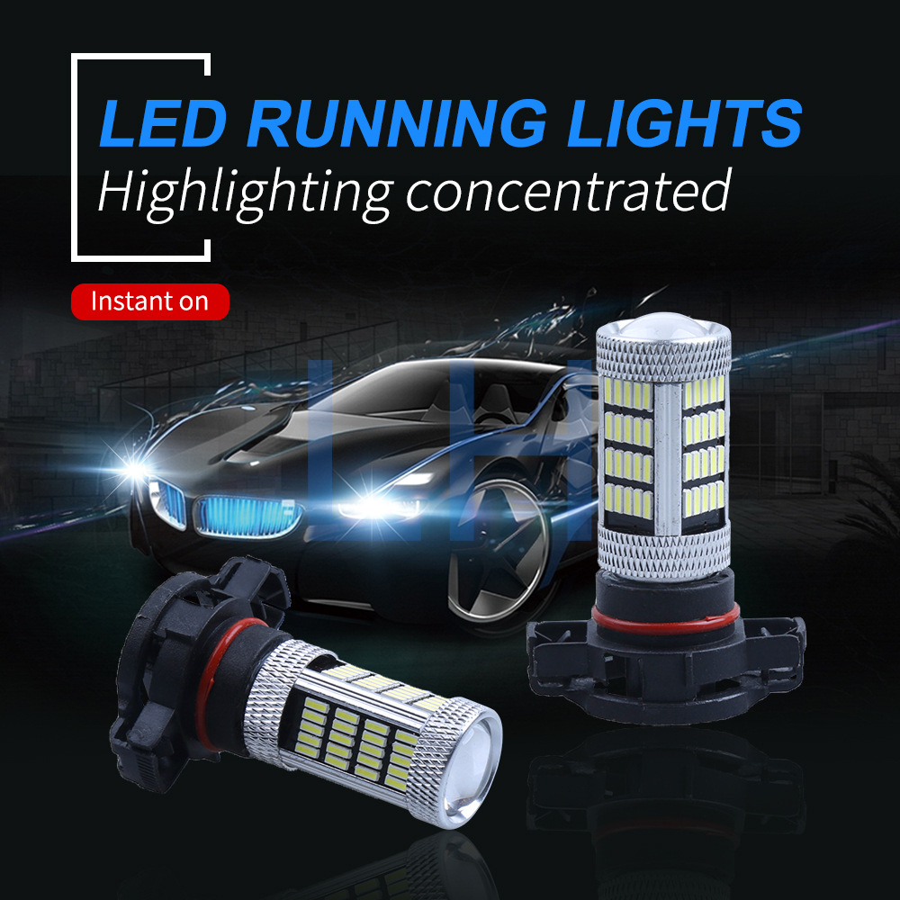 Automobiles & Motorcycles Car Lights Loyal 1pc H16 Ps19w 80w Car Led Fog Light Led Bulbs Ps24w Psx24w 92 Smd Car Running 4014 Bulb White Ice Blue 12v