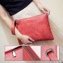 Simple Fashion Women Handbag Solid Color Clutch Bag Leather Envelope Bags Ladies Over Shoulder Package  BS88