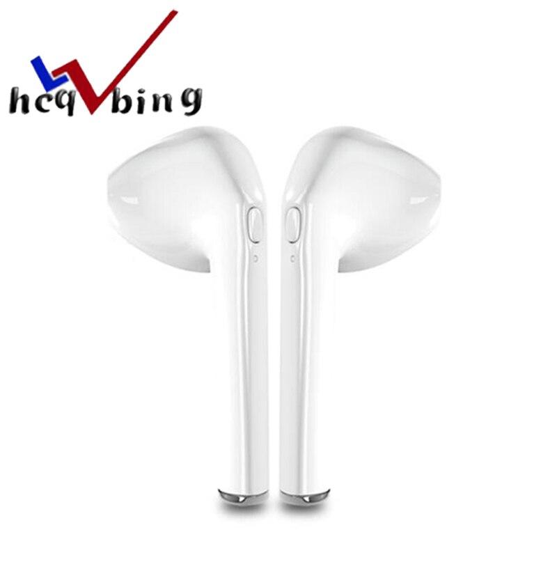HCQWBING I7 TWS Double Oreille Bluetooth Écouteurs I7 Sans Fil Écouteurs in-ear Casque Mini Casque Avec Micro pour iphone X 7 Android