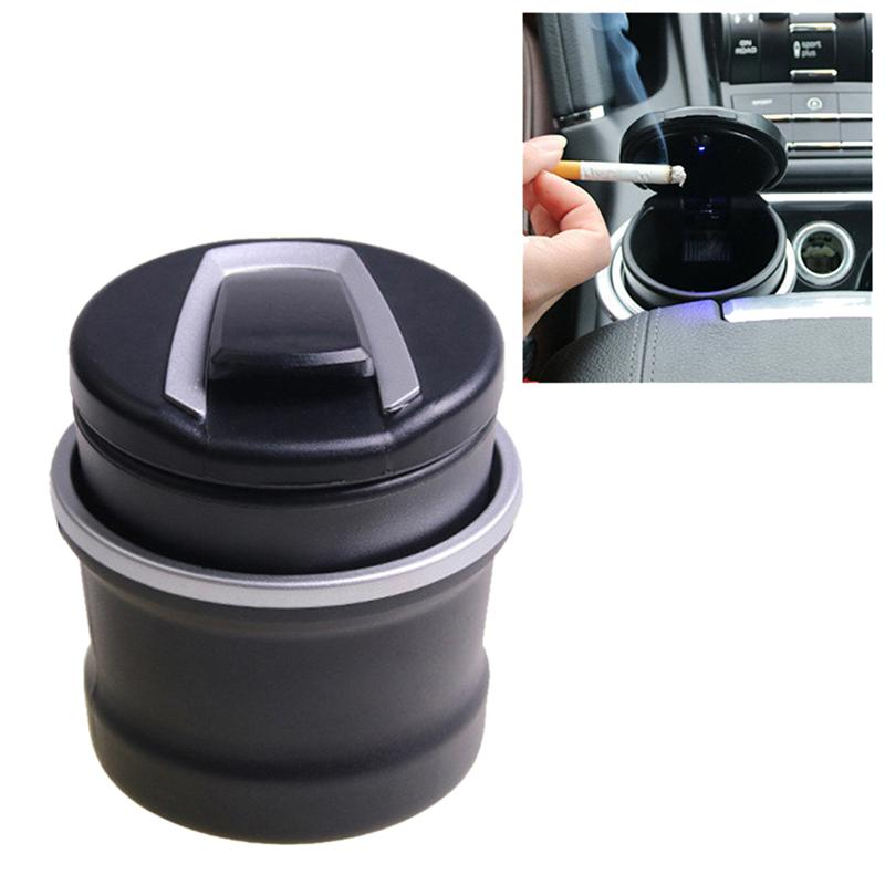 LUOEM LED Car Ashtray Smokeless Ashtray for Ease Smoking Cigarettes Experience