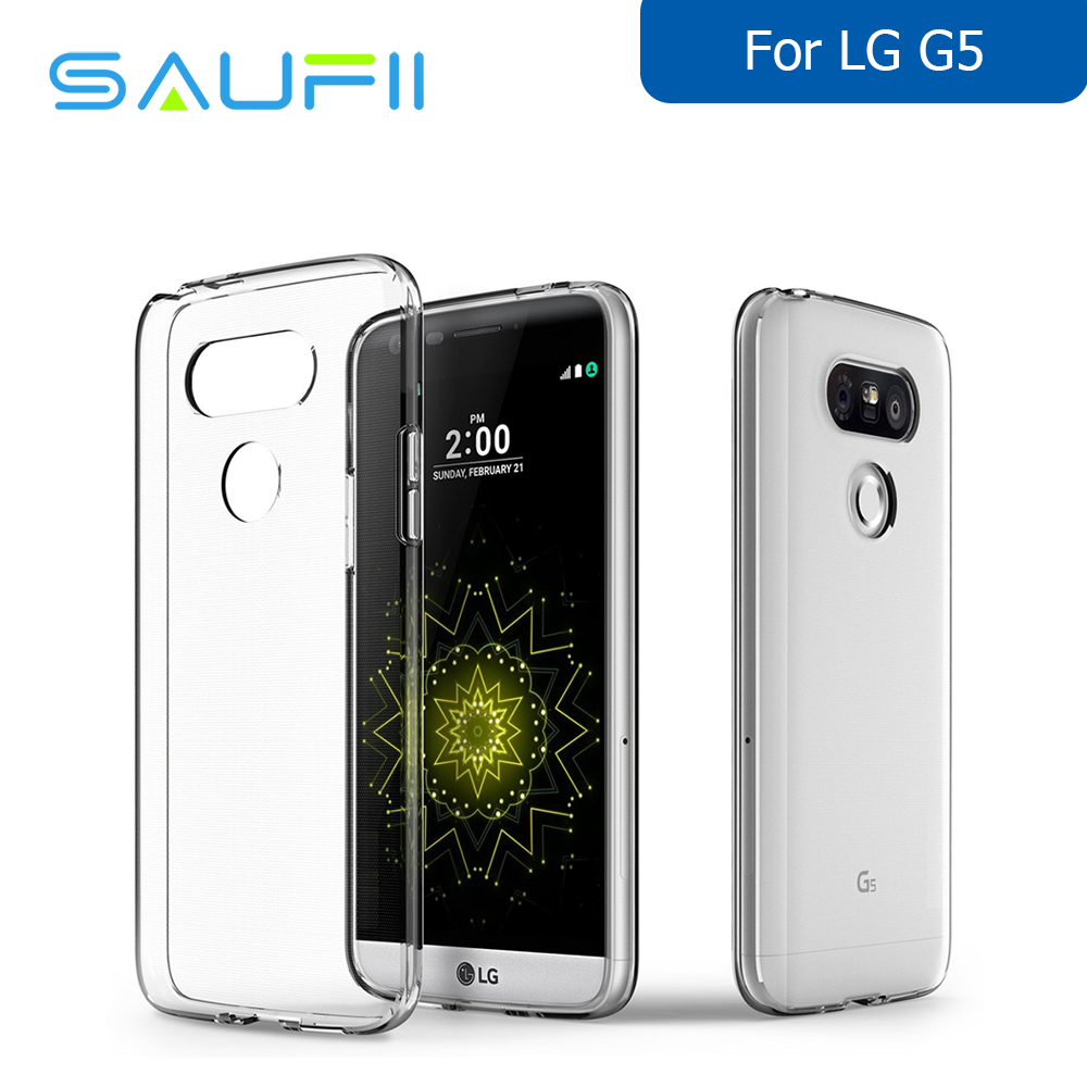 the latest d3816 601a2 US $3.98 |SAUFII 0.3mm Ultra thin Soft TPU Transparent Cases For LG G5  Crystal Silicone Shockproof Original fundas shell Accessories-in  Half-wrapped ...
