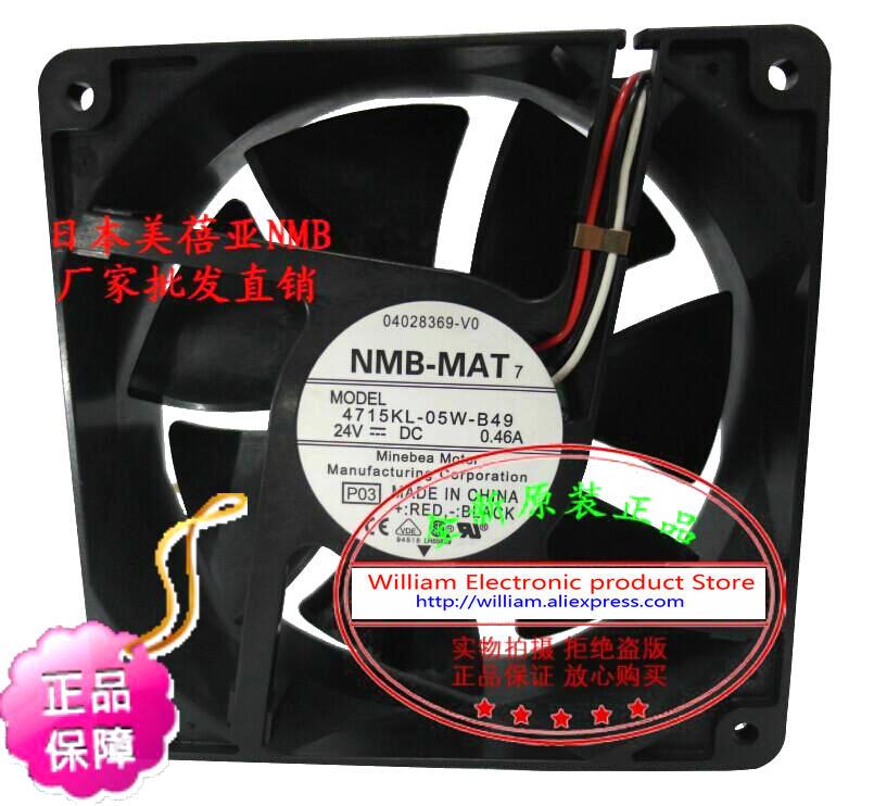New Original NMB 4715KL-05W-B49 DC24V 0.46A 120*38MM Alarm Signal axial cooling fan new original nmb 4715sl 05w b60 dc24v 1 2a 12038 inverter waterproof cooling fan