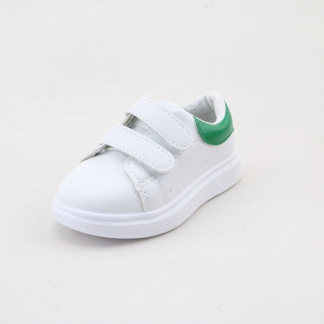 Girls' White Rubber Sneakers