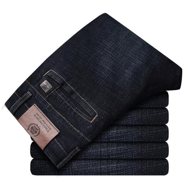 2017 autunno Inverno Addensare Smart Casual Jeans di Modo Degli Uomini Del Denim Dei Pantaloni di Marca di Abbigliamento 30 42 Jeans 327B