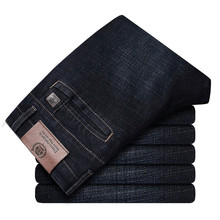 2017 סתיו החורף לעבות חכם מקרית ג ינס גברים אופנה ג ינס מכנסיים מותג בגדי 30 42 ג ינס 327B