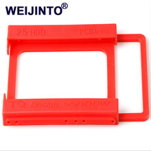 "2.5"" to 3.5"" SSD HDD Environmental Plastics Adapter Mounting Bracket Hard Drive Holder for Desktop PC(China)"
