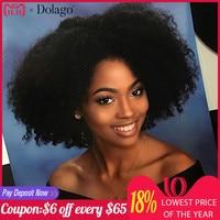 Mongolian Afro Kinky Curly Hair Weave 4B 4C 100% Natural Black Virgin Human Hair Bundles Extension Dolago Hair Products 10 28