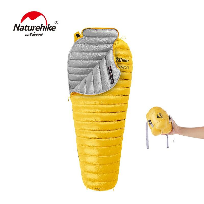 Naturehike CW300 Сверхлегкий Открытый белый гусиный пух Мумия спальный мешок NH18S300-D