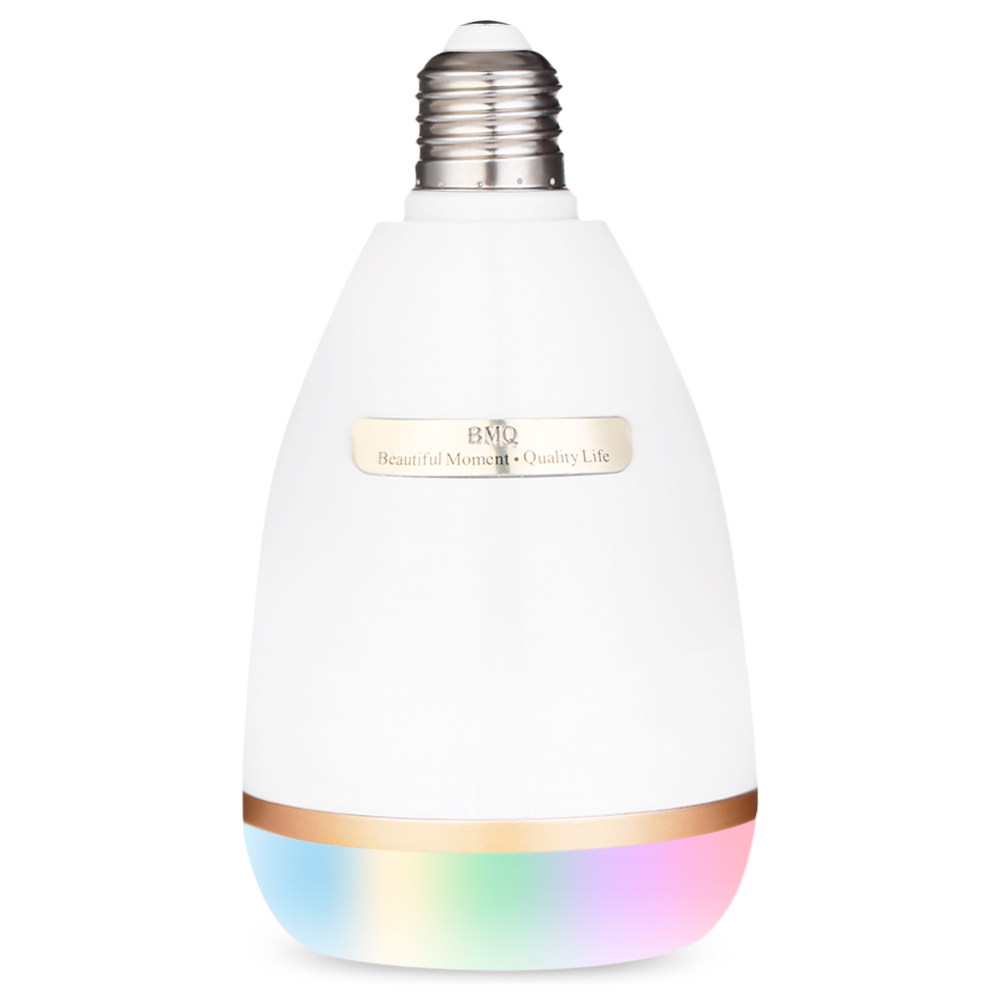 BMQ по QB-302 многоцветный Беспроводной E27 стерео Bluetooth Музыка лампочки Динамик AC 100-240 В удаленного Управление музыкальный плеер Z30