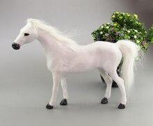 Simulation white horse polyethylene&furs horse model funny gift about 31cmx22cmx6cm
