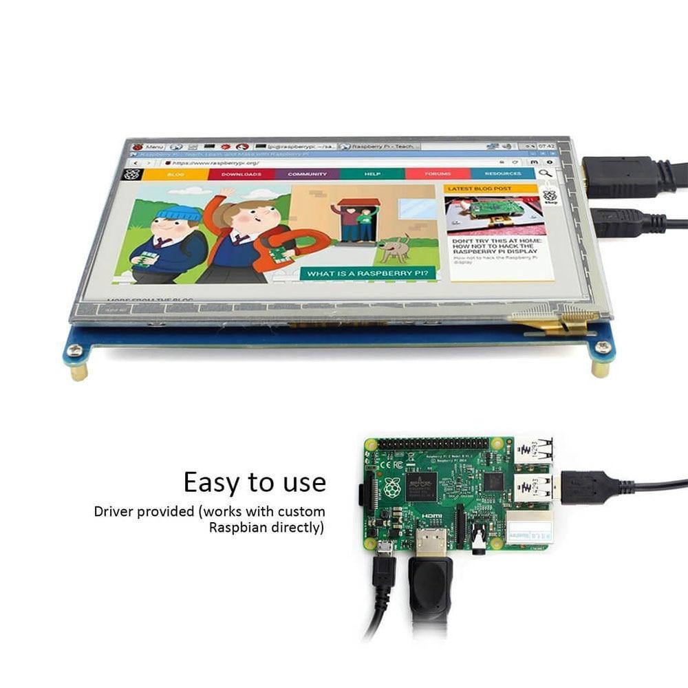 Raspberry Pi 3 affichage 7 pouces écran tactile HDMI HD LCD TFT 1024*600 (Pixel) moniteur pour Raspberry Pi 3 2B B Pcduino Win7 8 - 4