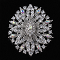 2015 new arrival wedding fine jewelry oval shape large crystal flower rhinestone brooches for women