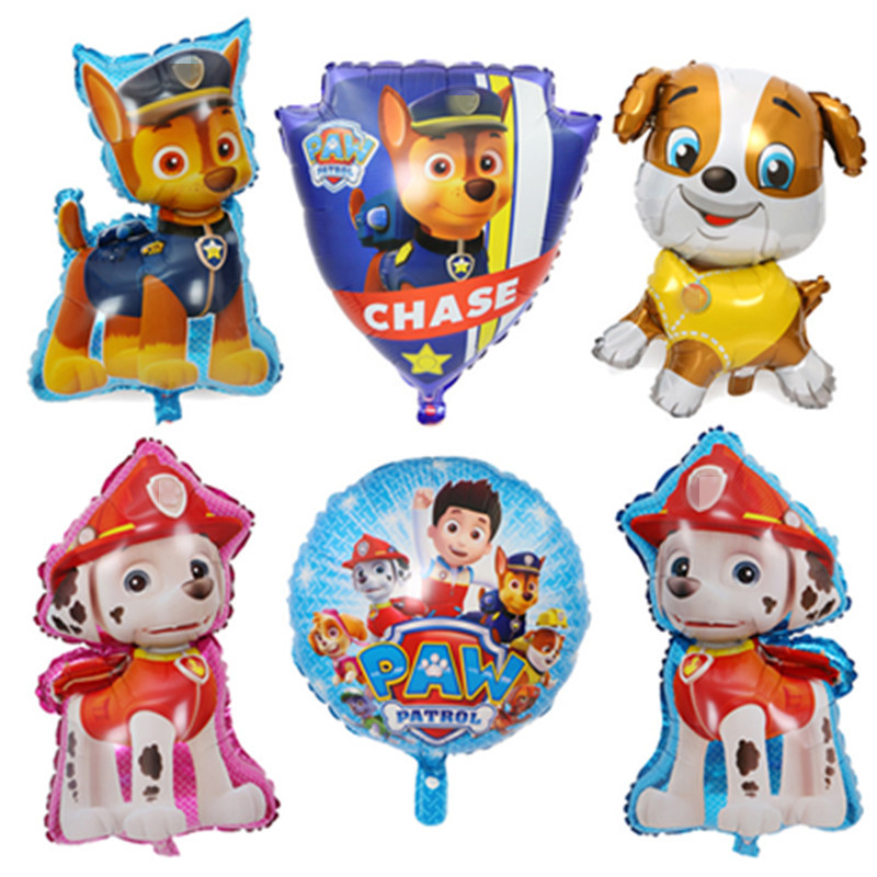 44*79cm Dogs Patrol Balloon Balloon Happy Birthday Party Supplies Helium Foil Balloons Toys For Kids Big Size 1pcs ...