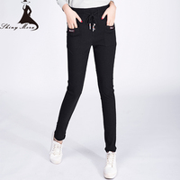 Women Casual Pants 2017 New Fashion Spring And Summer Ladies Sweatpants Cotton Full Length Harem Pockets