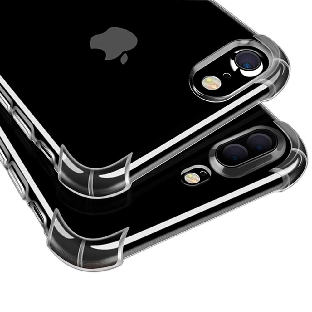 Анти стук TPU чехол для iPhone 6 Чехол прозрачный Мягкая силиконовая задняя крышка capinha Коке для iPhone 6 plus силиконовой резины