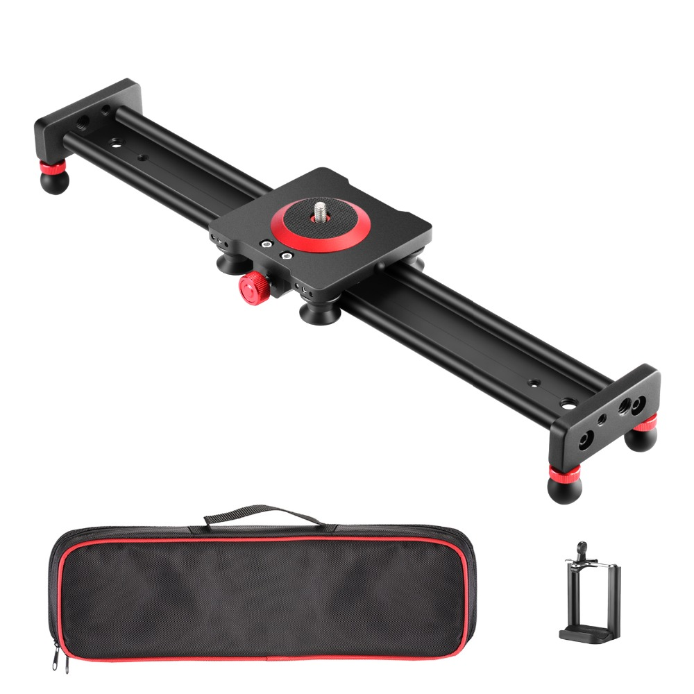 Neewer Camera Slider Aluminum Alloy Dolly Rail 19.7 inches/ 50 cm with 4 Bearings for Smartphone Nikon Canon Sony Camera image