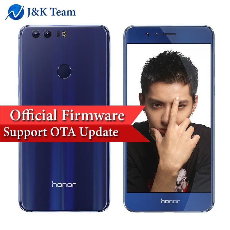 Huawei Honor 8 LTE Mobile Phone 32GB 4GB Double-sided glass body 5.2 inch Screen Dual Rear Camera 12MP*2 Kirin 950 Octa Core
