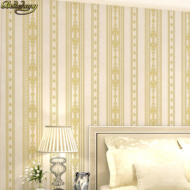 beibehang papel de parede 3D European blue stripes wallpaper for walls 3 d Bedroom Living Room Wall Paper roll contact paper beibehang velvet modern damask feature papel de parede 3d wallpaper wall paper roll for living room bedroom tv backdrop
