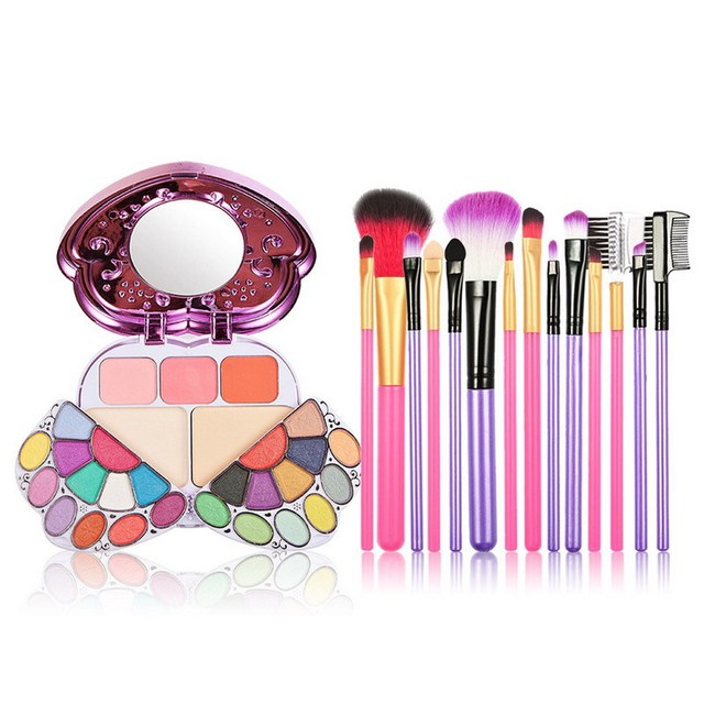 Free Shipping 29 Color Makeup Palette Combination And 7 PCS Makeup Brush
