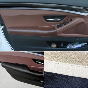 Car Interior Left Driving Side Cow Leather Door Armrest Handle Bowl Pull Protection Cover for BMW 5 Series F10 F18 2011 - 2017