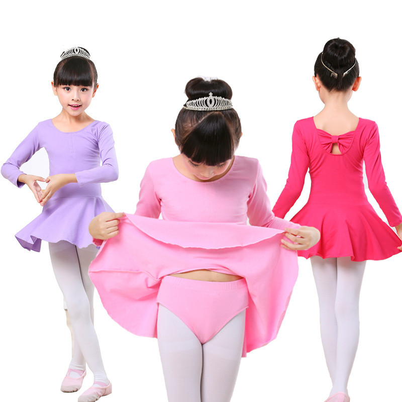 Gymnastics Split type  Leotard Girls Ballet  Kids Leotard Tutu Dance Wear Costumes   for Girl Ballerina Clothes girl
