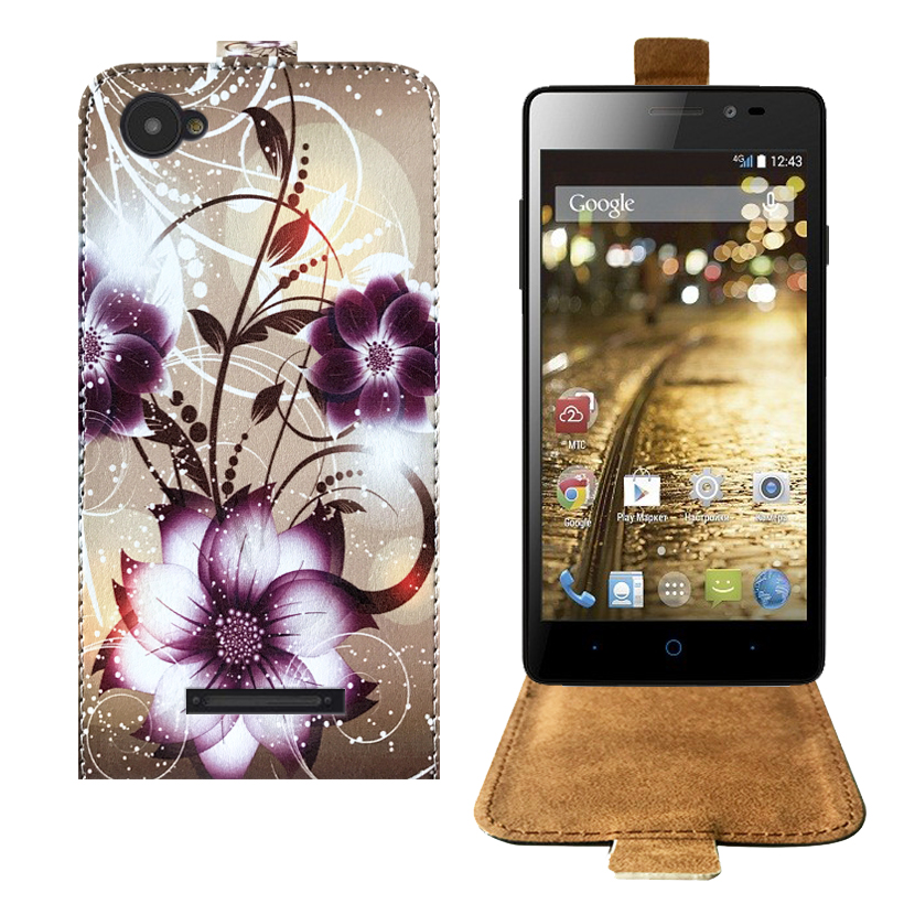 Top Selling Cartoon Painting Factory Price PU Leather Flip Case For MTC Smart Run 4G Case Back Cover 5.0 Protective