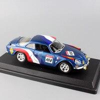 Children S 1 24 Scale Metal RENAULT Alpine A110 1600S Rally Race Car 108 Diecast Wrc