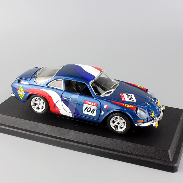 children 39 s 1 24 scale metal renault alpine a110 1600s rally race car 108 diecast wrc styling. Black Bedroom Furniture Sets. Home Design Ideas