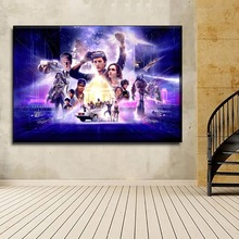 Canvas Print HD Poster 1 Pieces Sci-Fi Movies Ready Player One Picture Modern  Wall Art Home Decorative Living Room Framework