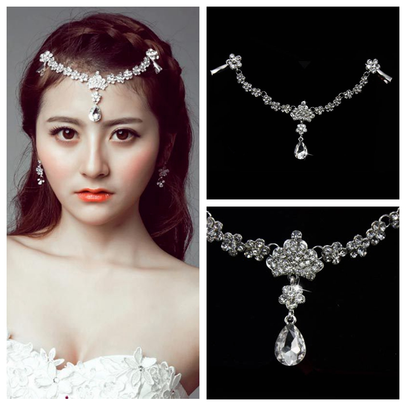 Bling Bling Bridal Hair Accessories Decoration On The Forehead Beautiful Cheap Sale Bride's Headpieces 2019 Head Accessories