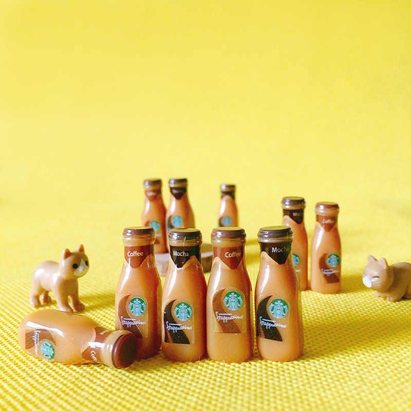 New~10 pcs coffee bottles/miniatures food/dinnerware/artificial/fairy garden gnome/terrarium/bonsai/figurine/doll house decor/