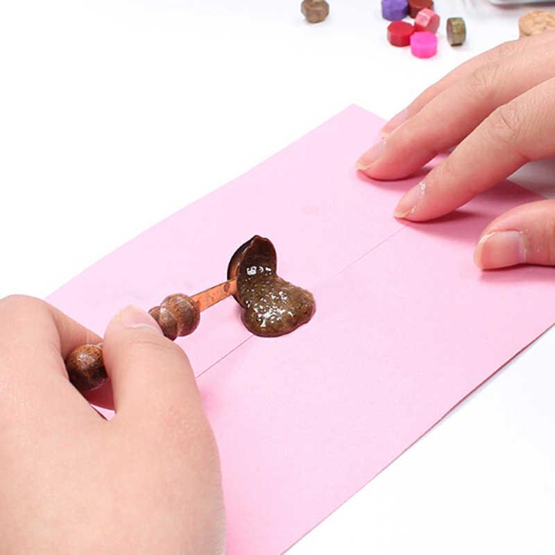 Venda quente diy colher de cera para cera derretida dissolver selo envelope carta artesanato lidar com colher de cozinha brinquedos para crianças criança