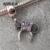 Fit pandora pulseiras minnie cabeça encantos de prata com zircônia original novo 100% 925 sterling silver beads diy atacado