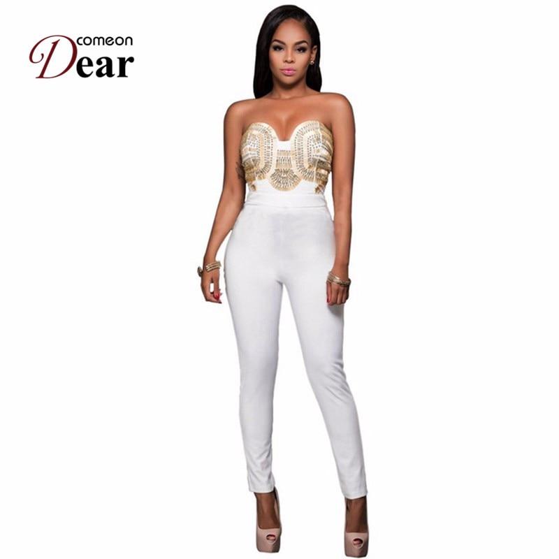 Online Get Cheap White Strapless Jumpsuit -Aliexpress.com ...