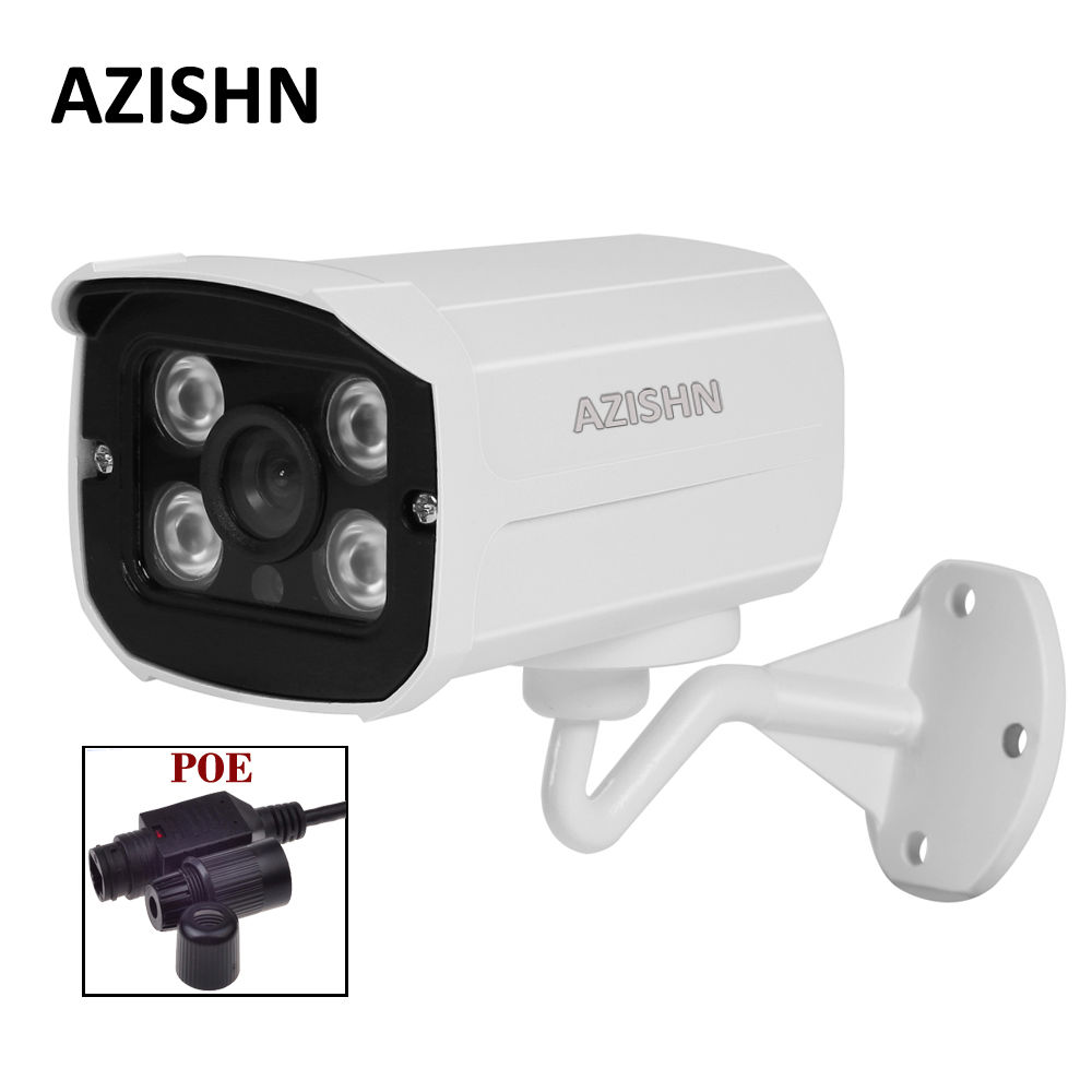 48V PoE IP Camera 720P 960P 1080P Waterproof Outdoor 4pcs LEDS Bullet IP Camera ONVIF Metal Case IP66 PoE cable cctv camera wistino xmeye bullet ip camera outdoor metal waterproof surveillance security cctv camera monitor onvif hd 720p 960p 1080p